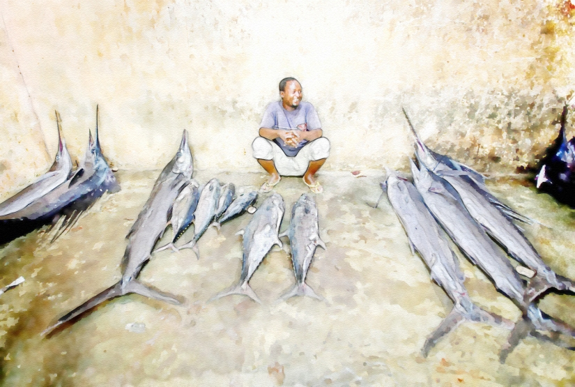 tuna in the market