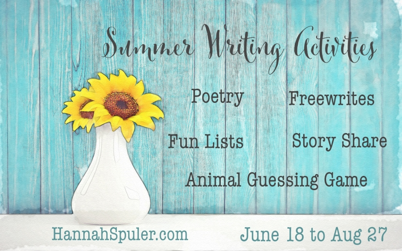 Summer Writing Activities update